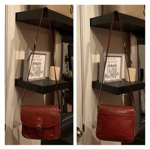 Ettiene Aigner Genuine Leather Crossbody Bag